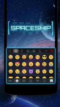 Space iKeyboard Emoji Theme screenshot 1