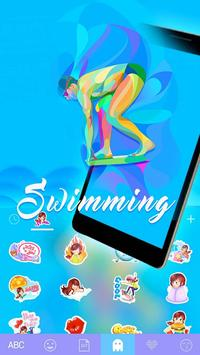 SwimmingEmoji iKeyboard Theme screenshot 3