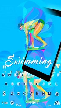 SwimmingEmoji iKeyboard Theme poster