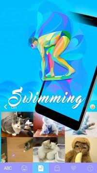 SwimmingEmoji iKeyboard Theme screenshot 2