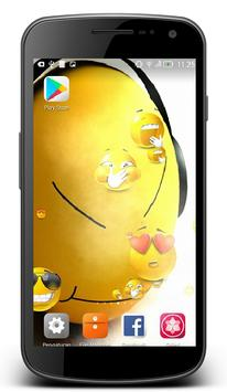 Emoji Live Wallpaper feature Smoke and Touch water for