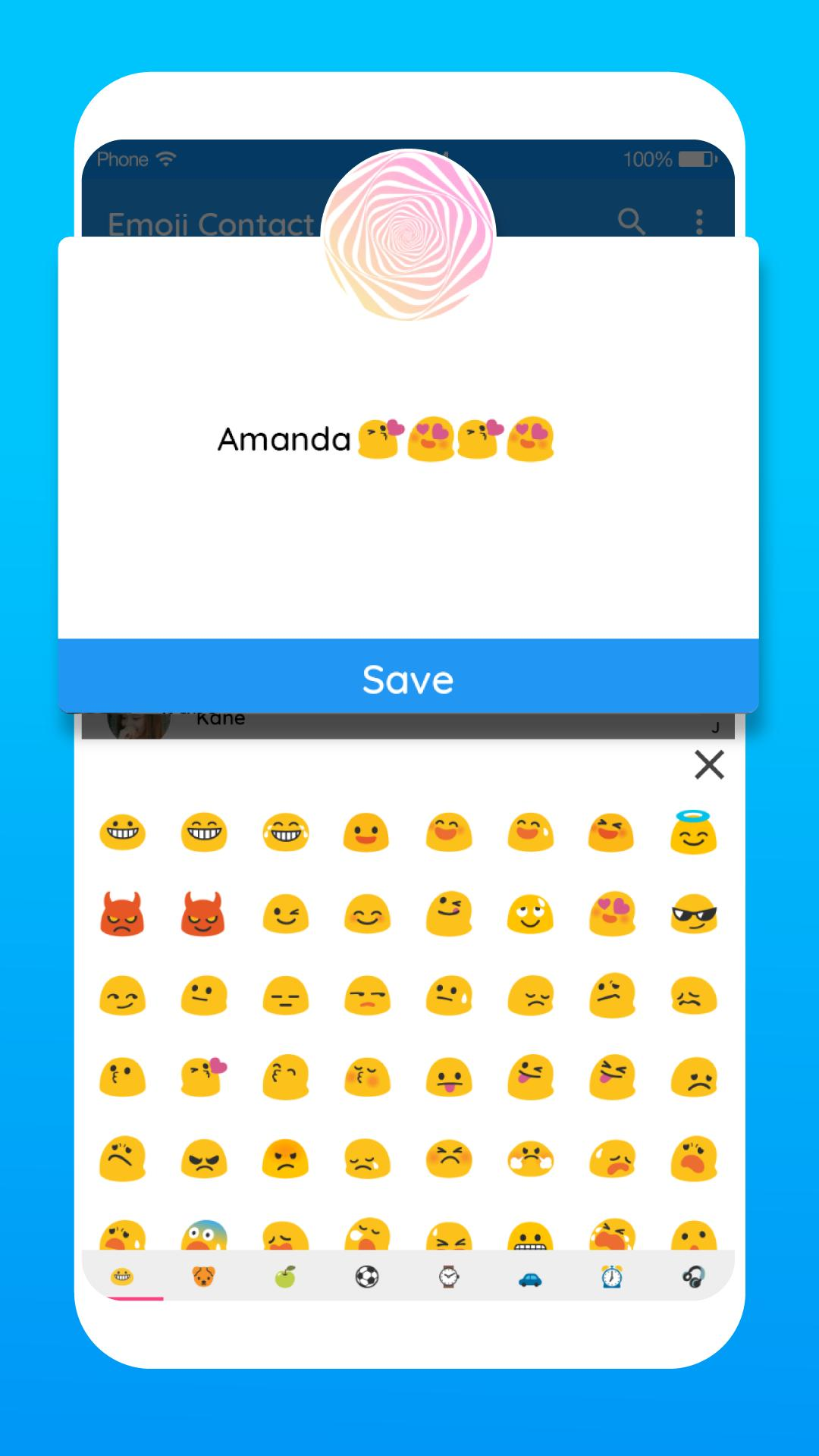 Emoji Contact: Contact Emoji Maker for Android - APK Download