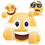 Cheers 2018 Gif Emoji Sticker
