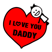 Free Father's Day Sticker GIF icon