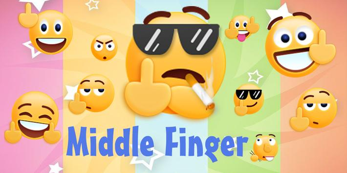 middle finger emoji sticker for android apk download. Black Bedroom Furniture Sets. Home Design Ideas