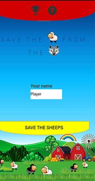 Save the sheep poster