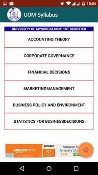 UOM MBA and MCOM Syllabus screenshot 3