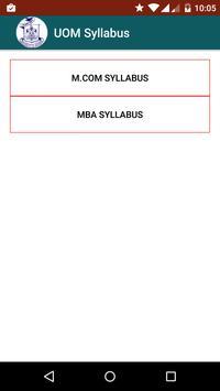 UOM MBA and MCOM Syllabus screenshot 1