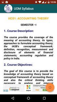 UOM MBA and MCOM Syllabus screenshot 4