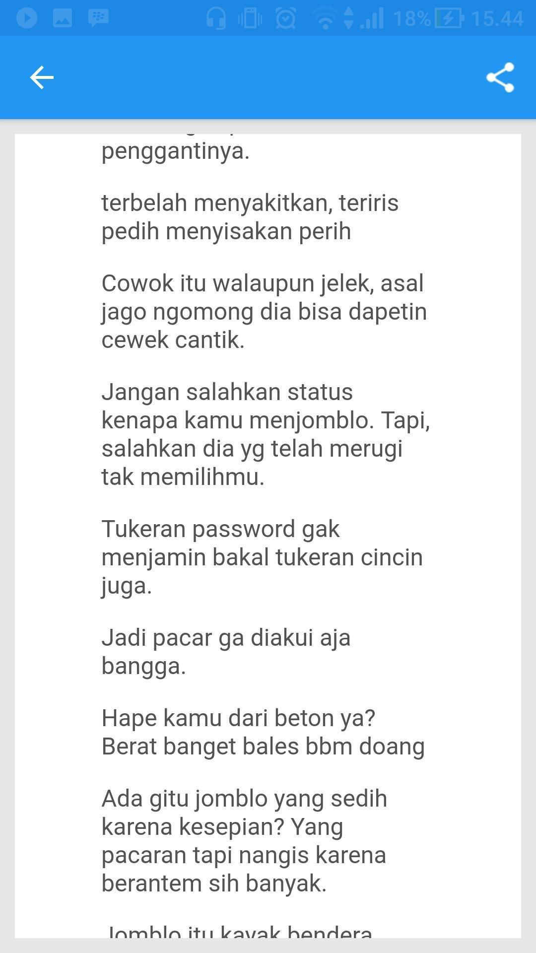 Kata Kata Jomblo For Android Apk Download