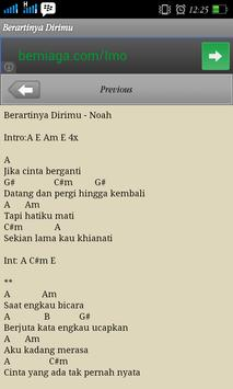 Lirik Lagu & Chord Noah screenshot 2