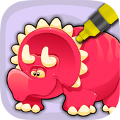 Dinosaurs to paint icon