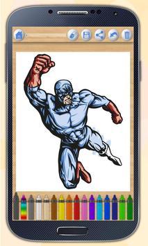 Superheroes coloring book poster