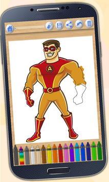 Superheroes coloring book screenshot 1