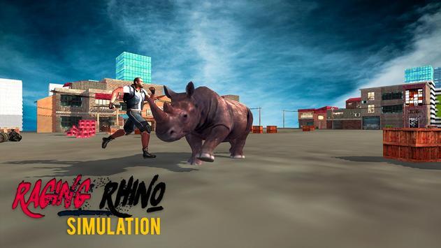 Raging Rhino Simulator apk screenshot