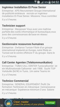 Tunisie : Emploi et concours poster