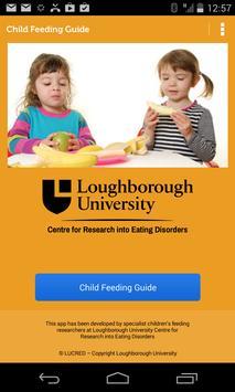Child Feeding Guide poster