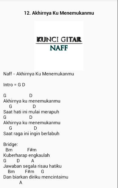 Kunci Gitar Naff For Android Apk Download