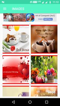 Good Morning Wishes SMS Quotes Wallpapers Images screenshot 1