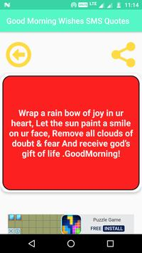 Good Morning Wishes SMS Quotes Wallpapers Images screenshot 6