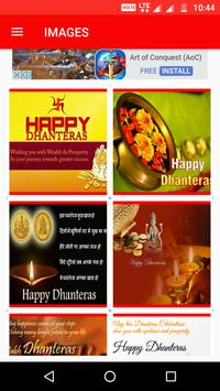 Happy Dhanteras Wishe Greeting Walpapper Sms Image poster