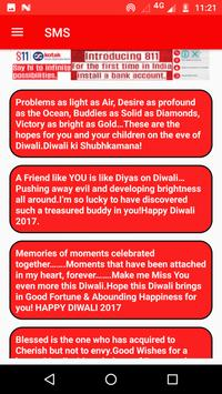 Diwali Greetings SMS Wishes Wallpapers Images screenshot 4