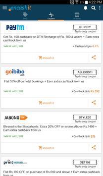 Encashit - The Cashback App apk screenshot