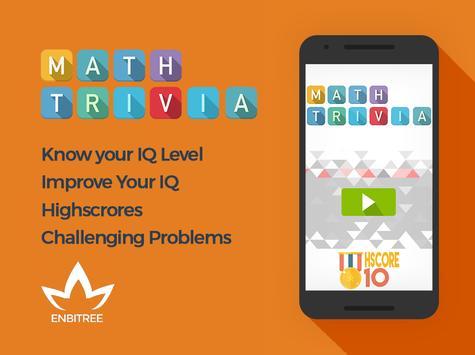Math Trivia : Free Game poster