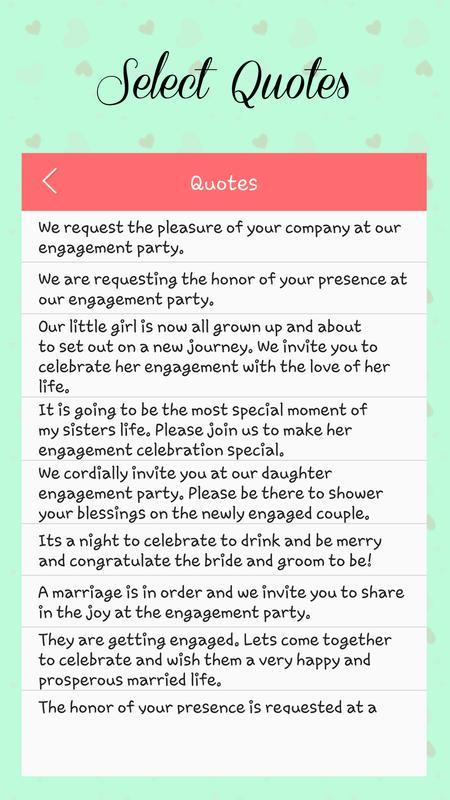 Engagement invitation card maker for android apk download engagement invitation card maker screenshot 3 stopboris Images