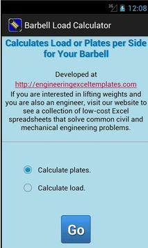 Barbell Load Calculator poster