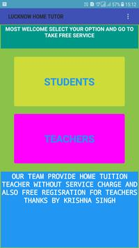 Lucknow home Tutor poster