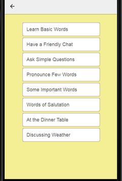 Learn English in Telugu: Spoken English in Telugu apk screenshot