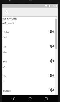 Learn English in Pashto - Speak Pashto to English apk screenshot