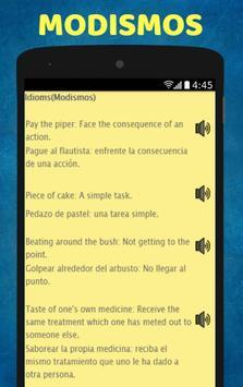 Aprende Ingles: Spanish to English Speaking screenshot 7