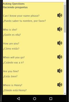 Aprende Ingles: Spanish to English Speaking screenshot 8