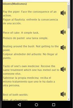 Aprende Ingles: Spanish to English Speaking screenshot 10