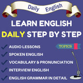 Learn English Step by Step - Spoken English App icon