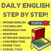 Learn English Step by Step icon