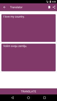 English to Bosnian Dictionary and Translator App apk screenshot