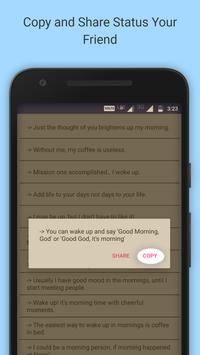 Good Morning Status apk screenshot
