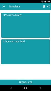 English to Dutch Dictionary and Translator App apk screenshot