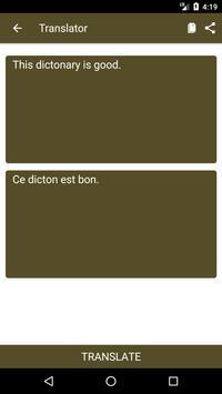 English to French Dictionary and Translator App apk screenshot