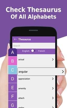 French to English Dictionary - French language app poster