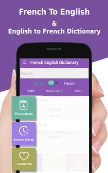French to English Dictionary - French language app apk screenshot