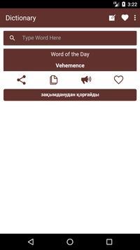 English to Kazakh Dictionary and Translator App poster