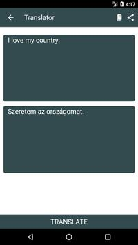English to Hungarian Dictionary and Translator App apk screenshot