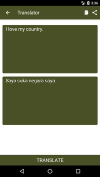English to Malay Dictionary and Translator App apk screenshot