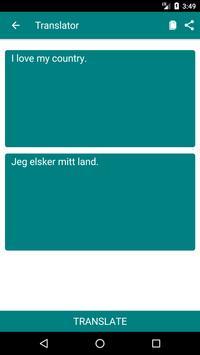 English to Norwegian Dictionary and Translator App screenshot 1