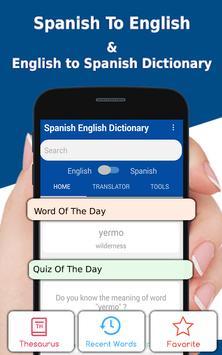 Spanish English Dictionary & Translator poster