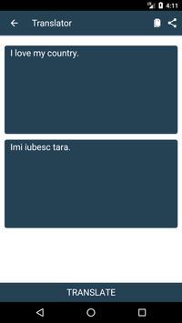 English to Romanian Dictionary and Translator App apk screenshot